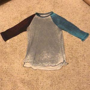 BDG Shirts - BDG Multicolored Baseball T Shirt Size Extra Small